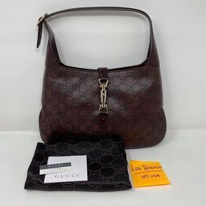 Gucci 137335 New Jackie Leather Shoulder Bag